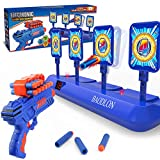 BAODLON Digital Shooting Targets with Foam Dart Toy Gun, Electronic Scoring Auto Reset 4 Targets Toys, Fun Toys for Age of 5, 6, 7, 8, 9, 10+ Years Old Kids, Boys & Girls, Compatible with Nerf Toys