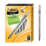 BIC Round Stic Xtra Life Ballpoint Pen, Medium Point (1.0mm), Black,...