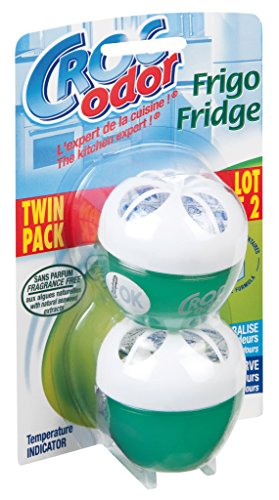 Croc Odor Twin Pack Fridge Fresh Deodoriser Neutraliser Odour Freshener Food Safe
