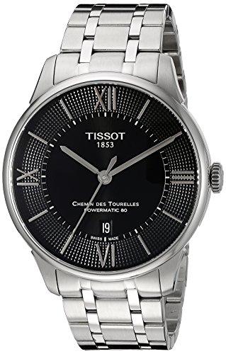 Tissot Men's T0994071105800 Chemin Des Tourelles Powermatic 80 Analog Display Swiss Automatic Silver-Tone Watch