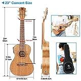 Immagine 1 vangoa ukulele elettroacustico concerto 23