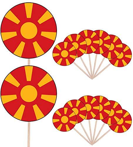 AK Giftshop Essbare Cupcake-Dekorationen mit Suriname-Flagge, 24 Stück