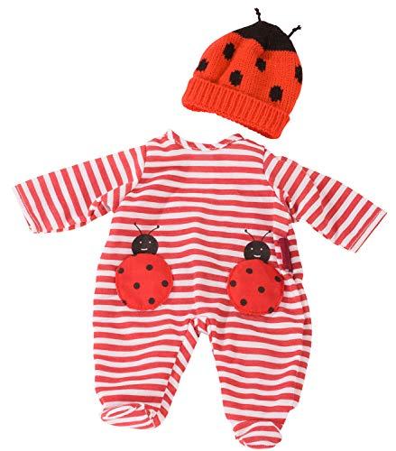 Götz 3403036 Kombi Ladybug - Puppenbekleidung Gr. S - 2-teiliges Bekleidungs- und Zubehörset für Babypuppen von 30 - 33 cm