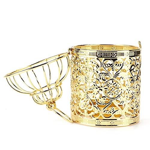 QIMIT Candelabro, Candelabro de Linterna Candelabros Candelabro de Linterna para Interior para Bodas para el hogar para Fiestas(A Gold)