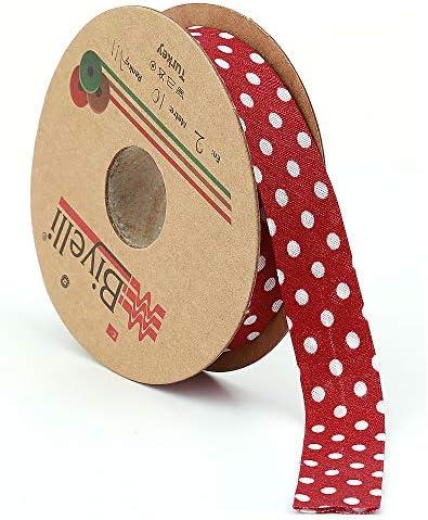 2 m bias bindingtape in RED with white dots CAPRI