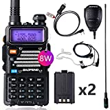 Ham Radio Baofeng Radio Upgraded Baofeng UV-5R Dual Band Walkie Talkie with 2 Rechargeable 1800mAh Battery Handheld Radio with TIDRADIO Driver Free Programming Cable