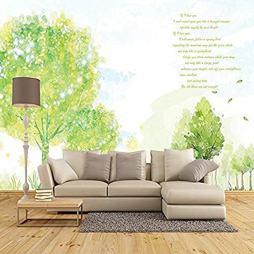 Fondo de TV Pared Inconsútil Mural grande Sala de estar Sofá de oficina Fondo de TV Papel de pared Pequeño Fre papel pintado pared dormitorio de estar sala de estar fondo No tejido-400cm×280cm