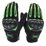 LVNRIDS Guantes de Moto, Pantalla Táctil en los Dedos Guantes de Carreras para Hombres y Mujeres para Motocross Verde XL