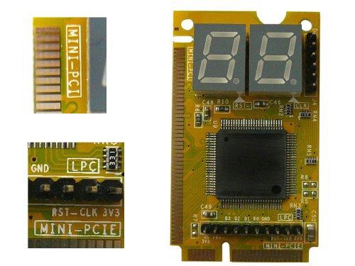 Kalea Informatique Tester für Mainboards von Notebooks, 3Schnittstellen: Mini PCI/ Mini PCI Express/ LPC