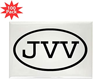 CafePress JVV Oval Rectangle Magnet (100 pack)