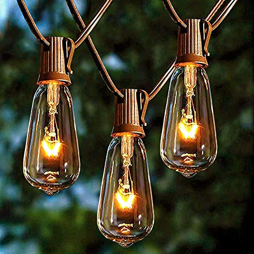 HONGLONG Outdoor String Lights 20Ft with 20 Edison Bulbs Vintage Bistro String Lights Waterproof UL Listed Patio String Lights for Garden/Backyard Party/Wedding