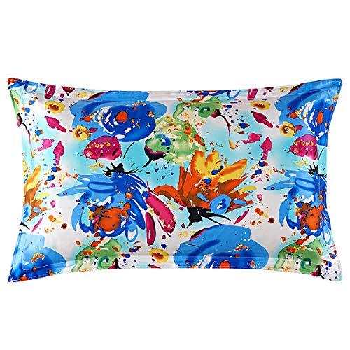 Mulberry zijden enkelzijdige zijden kussensloop zijden schoonheid kussensloop multicolor, Emmy Springs, 48 * 74cm