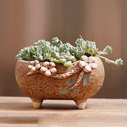 PLL met de hand geschilderde bloempot creatieve aardewerk ademend vleesachtige groene plant keramische potten C3