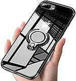 iPhone7 plus ケース/ iPhone8 plus ケース クリアリング 透明 耐衝撃 全面保護 磁気カーマウ……
