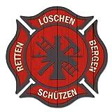 Finest Folia 2 pegatinas de bomberos rojas para el coche R133 (5 cm, juego de 2 unidades)