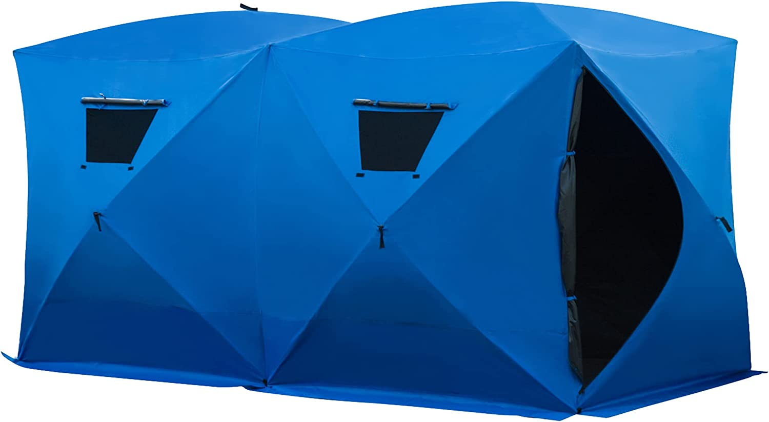 Limited time cheap sale Outsunny 8 Fort Worth Mall Person Waterproof Portable Fishing Ice Pop-Up Shelter