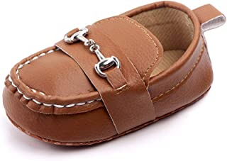 XYLUIGI Baby Loafers Infant Toddler Boys Girls Prewalker Moccasins Crib Dress Shoes Fashion PU Leather Sneakers