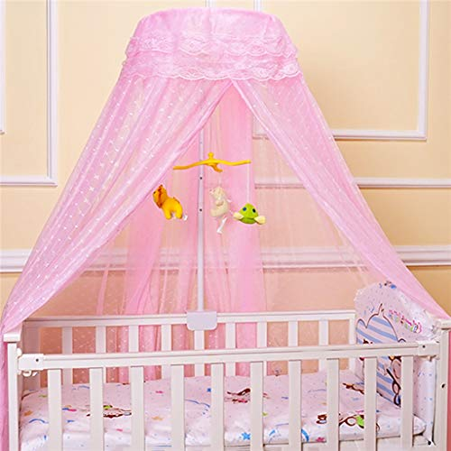 SMSJ-YJ Runde Baby-Moskito-Netz-Hung Dome Moskitonetz Bett Vorhang Netting Baldachin for Kinder Schlafzimmer Moskitonetz (Color : Pink)