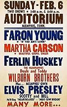Elvis Presley - Auditorium - Memphis TN - 1955 - Concert Poster Magnet