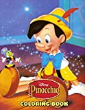 Pinocchio Coloring Book: 50+ Coloring Pages. Cute Character for Kids Beautiful Creativity Learn and Fun with Cartoon Network Coloring Book