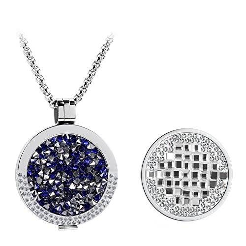 Meilanty Crystal PeachPuff Interchangeable Coin 33mm For Pendant Necklace GP-01