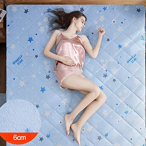KKLTDI ademende pluche matras, futon, 6 cm, dik, opvouwbaar, pluizig, comfortabel, voor vloer, tattamio, hypoallergeen en mijten, matras voor slaapkamer/slaapkamer