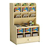 Schreibtisch-Organizer aus Holz, großes Fassungsvermögen, Stiftehalter für Büro, Zuhause und Schulbedarf