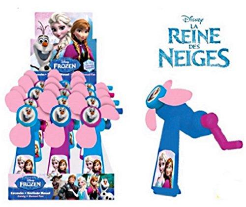 Disney 1 Ventilateur Manuel Reine des NEIGES Frozen + Bonbon 13 X 9 CM