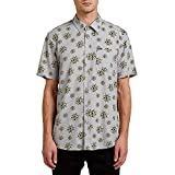 Volcom Burch Bloom S/S Camisa, Hombre, Tower Grey, L