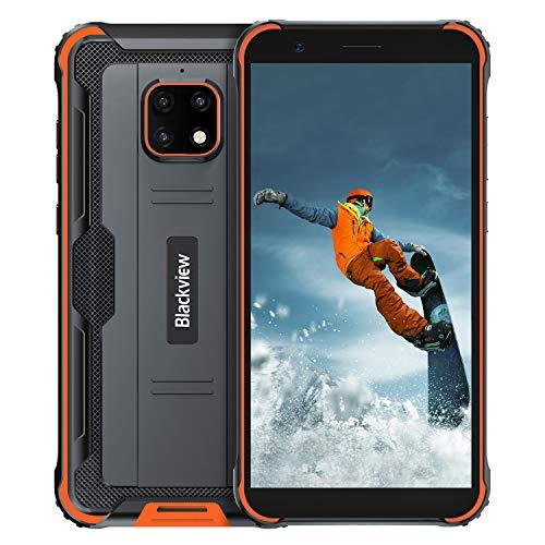 Blackview BV4900pro Móvil Libre Resistente,Pantalla 5.7,4GB RAM 64GB ROM 128GB Expandible,Movil Irrompible Carga Inversa 5580mAh Batería,Android 10 Movil Antigolpe,Impermeable Movil,NFC,GPS,Dual SIM