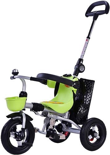 los clientes primero TH Cochecito Triciclo para para para Niños, Plegable, con Parasol Y Putter 3 En 1 para Edades DE 1-4, 77x46x51cm  el mas de moda