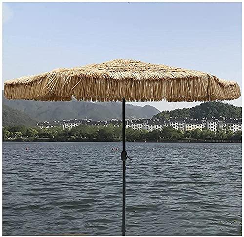 HUYEERDF Manivela imitación imitación sombrilla sombrilla sol paraguas al aire libre fijo playa playa protector solar manivela 2 7m 8 hueso mano arrancado sombrilla paraguas columna central 38mm altur