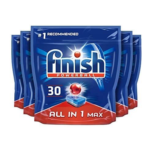 Finish All in 1 Max Pastillas para lavavajillas, 30 pastillas