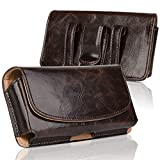 kiwitatá Belt Case Holster for iPhone 12 XS Max, Horizontal Leather Cell Phone Belt Clip Pouch Holster Belt Loop Wallet Case for iPhone 11 Pro Max 11 8 Plus 7 Plus (Brown)