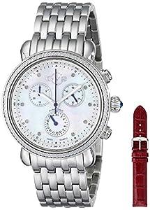 GV2 by Gevril Women's 9801 Marsala Analog Display Swiss Quartz Silver Watch Set image