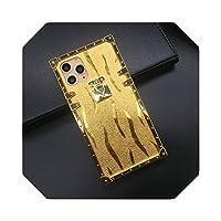 高級グリッターメッキゴールドスクエアケースFor iPhone12 PRO 11 XS MAX X XR 6 7 Plus8カバーSamsungNote 20 S10 9 S9 S20 Ultra-Color 5-for iphone XS MAX