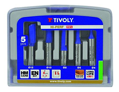 petit un compact Coupe-fente Tivoly XT606470001, gris, ensemble de 5 pièces