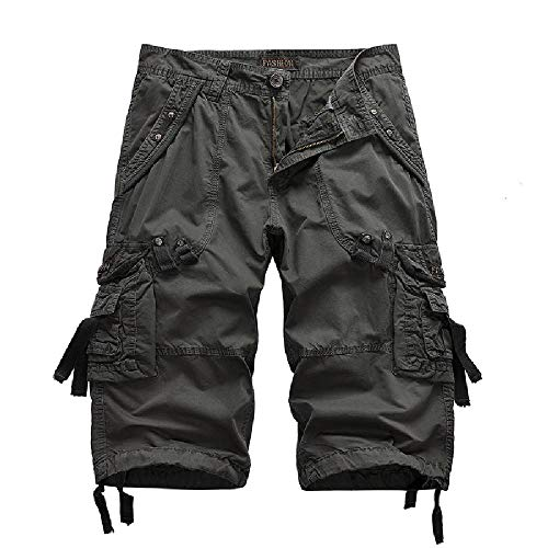 Nobrand 2020 Summer Casual Pants Pantalones de algodón Puro para Hombres Ropa de Trabajo con múltiples Bolsillos para Hombres Pantalones Cortos Deportivos