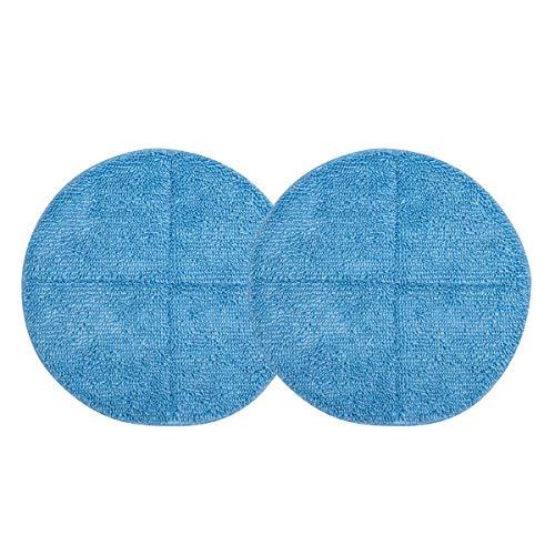 Discos encerados de fregona eléctrica,barredora manual, escobas eléctricas inalámbricas (Azul)