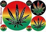 Cannabis Marihuana Weed Sticker Motorsport Motocross Pegatinas 1 hoja 270 mm x 180 mm resistente a la intemperie