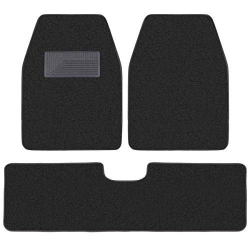 BDK 3 Pieces Heavy Duty Carpet Floor Mats for CAR SUV Van - Extra Thick Carpet...