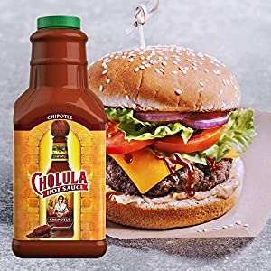 Cholula Chipotle Hot Sauce | 64 Ounce Bottle | Crafted with Chipotle, Arbol and Piquin Peppers and Signature Spice Blend | Gluten Free, Kosher, Vegan, Low Sodium | Best Thing to Ever Happen to Food