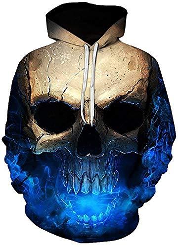 FRAUIT Herren 3D Druck Kapuzenpullover Hoodie Sweatshirt Grafik Langarm Pullover Top Jumper Unterhaltung Shirt Festival Party Kleidung S-5XL (XL, N-Mehrfarbig)