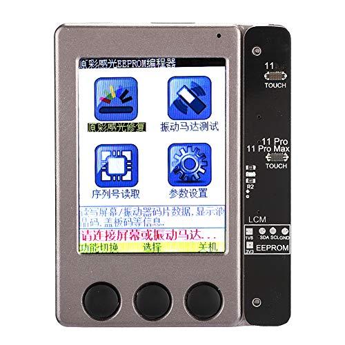 Schermreparatie-instrument, lichtgevoelig reparatie-instrument voor 7G/7PLUS/8G/8PLUS/X/XS/XSmax/XR, metalen scherm Lichtgevoelige reparatie-accessoire Ondersteuning Multi-talen(Bruin)