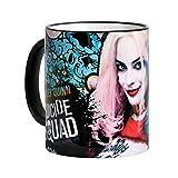 Elbenwald pelotón del suicidio taza Harley Quinn Lovelygirl Wraparound 320 ml de cerámica azul