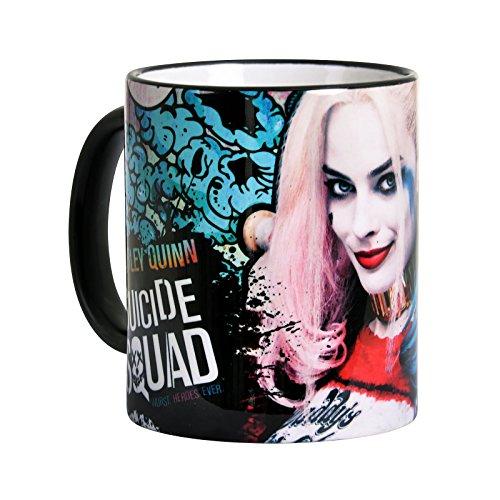 Elbenwald Suicide Squad Tasse Harley Quinn Lovely Girl Rundumdruck 320 ml Keramik blau