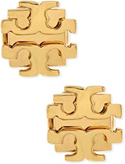 Tory Burch Small T Logo Stud Earrings Gold