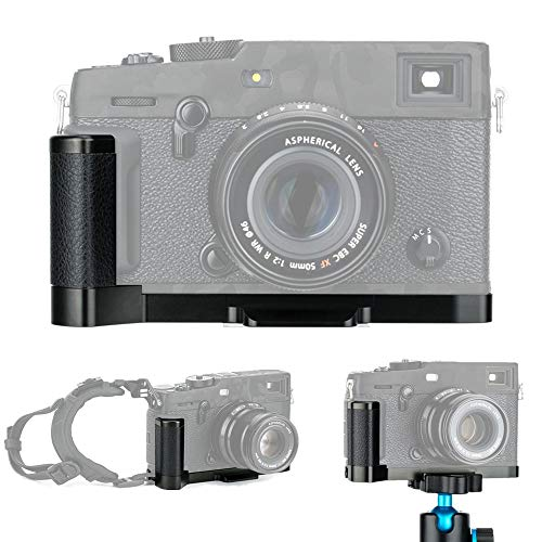 JJC - Soporte para Placa de liberación rápida de Metal para Fujifilm Fuji X-Pro3 X-Pro2 X-Pro1 sustituye a Fujifilm MHG-XPRO3 MHG-XPRO2