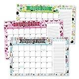2021-2022 Doodle Desk Calendar, Large Monthly Wall Planner with Seasons, 18 Month Academic Desktop Calendar & Fridge Planning Blotter Pad, Seasonal Notes Section Teacher, Family Business Office 11x17'