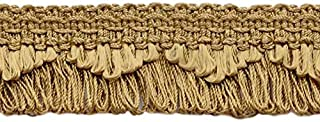 DÉCOPRO Decorative Camel Gold, Dark Gold Scalloped Loop Fringe/Braid, 1 3/8 Inch, 12 Yard Value Pack, Style# 9115 Color: E16 (D1) (36 Ft / 11M)